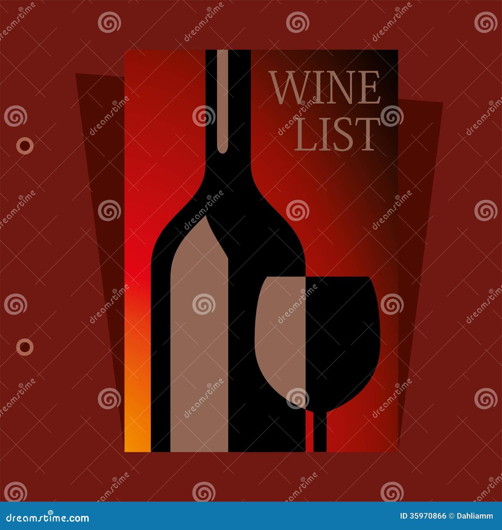 Diseño de la carta de vinos del vector