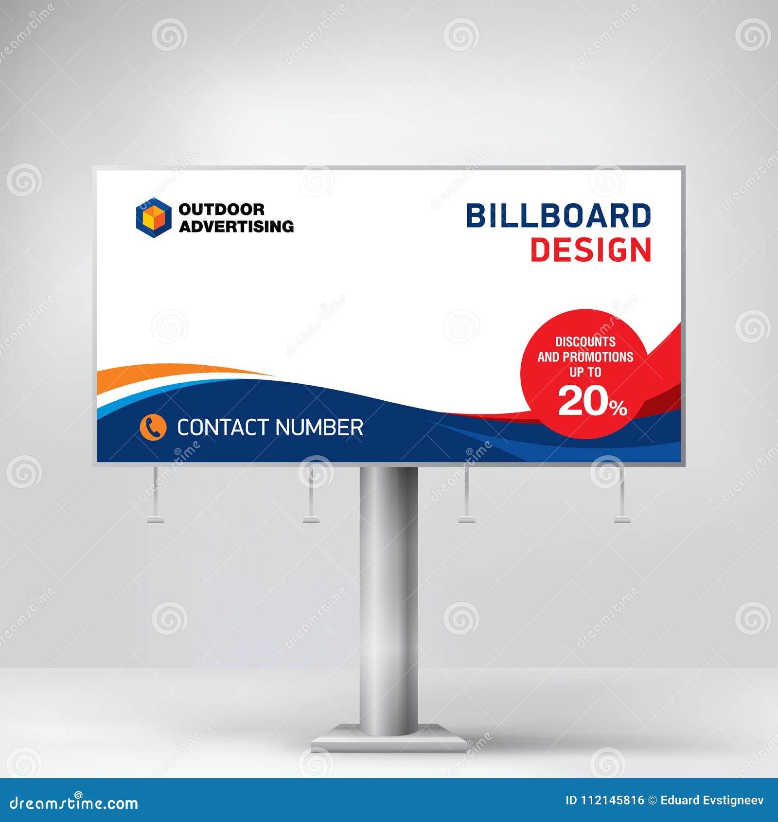 Diseño De La Cartelera, Una Plantilla Universal Para La Publicidad ...