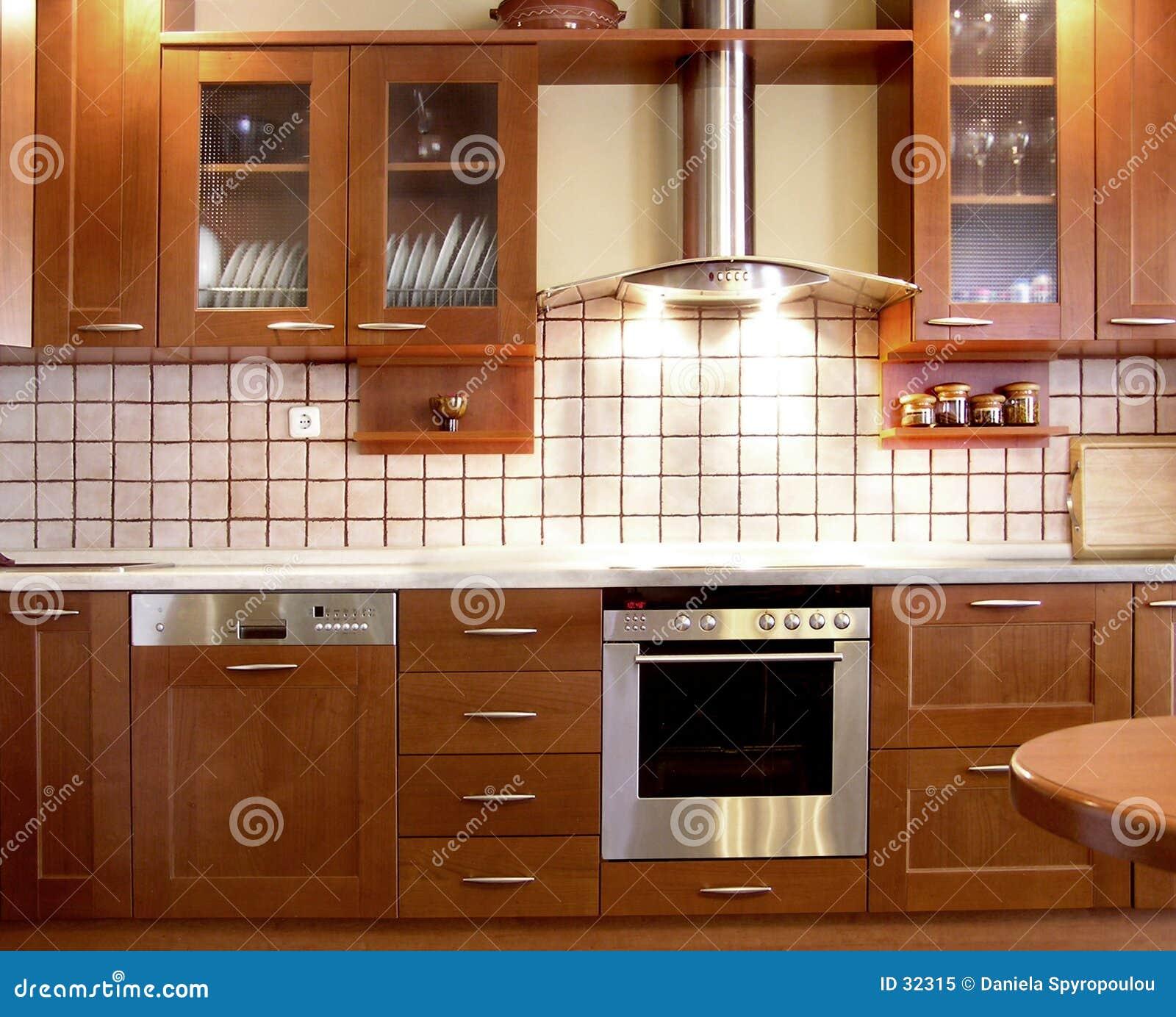 Diseño De La Cocina De La Cereza Imagen de archivo - Imagen de casa ...