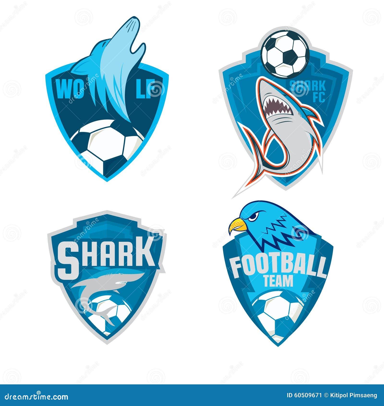 Diseño de la colección del escudo del logotipo de la insignia del fútbol 538d8280f04e5