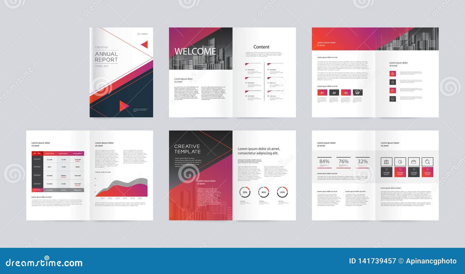 Diseño de la disposición de la plantilla con la página de cubierta para el perfil de compañía, informe anual, folletos, aviadores