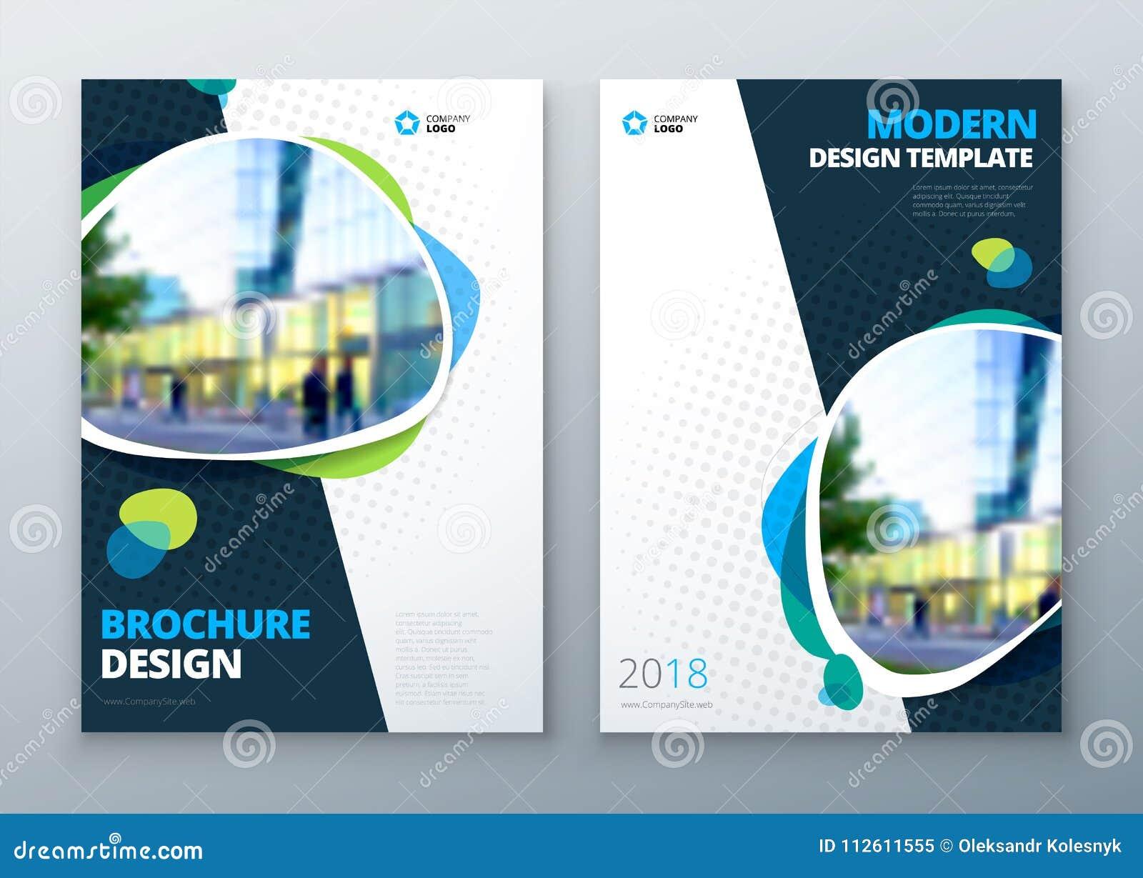 9875909f62 Diseño de la disposición de la plantilla del folleto Maqueta brillante del  folleto