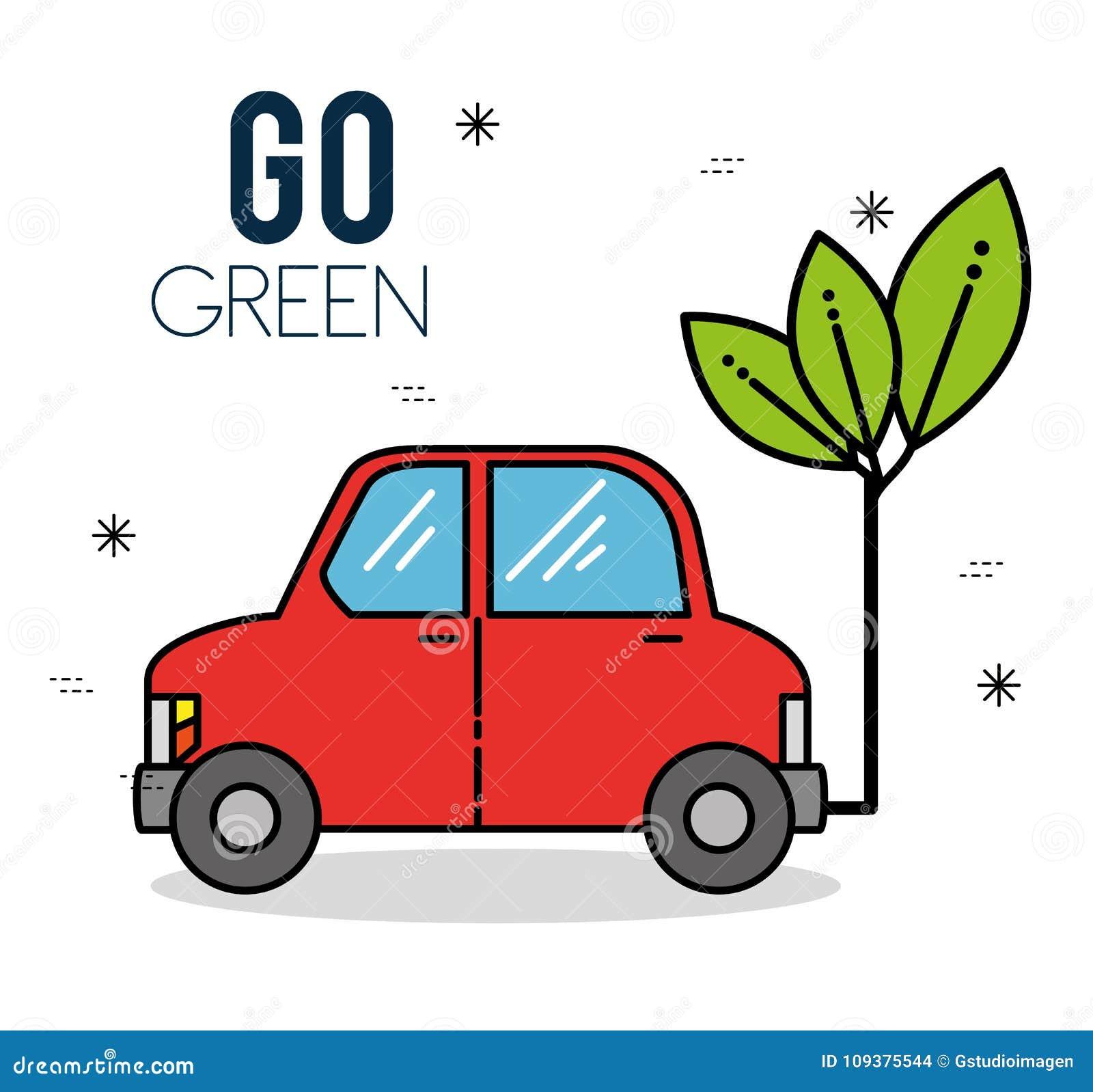 Diseño de la energía del verde del coche de Eco