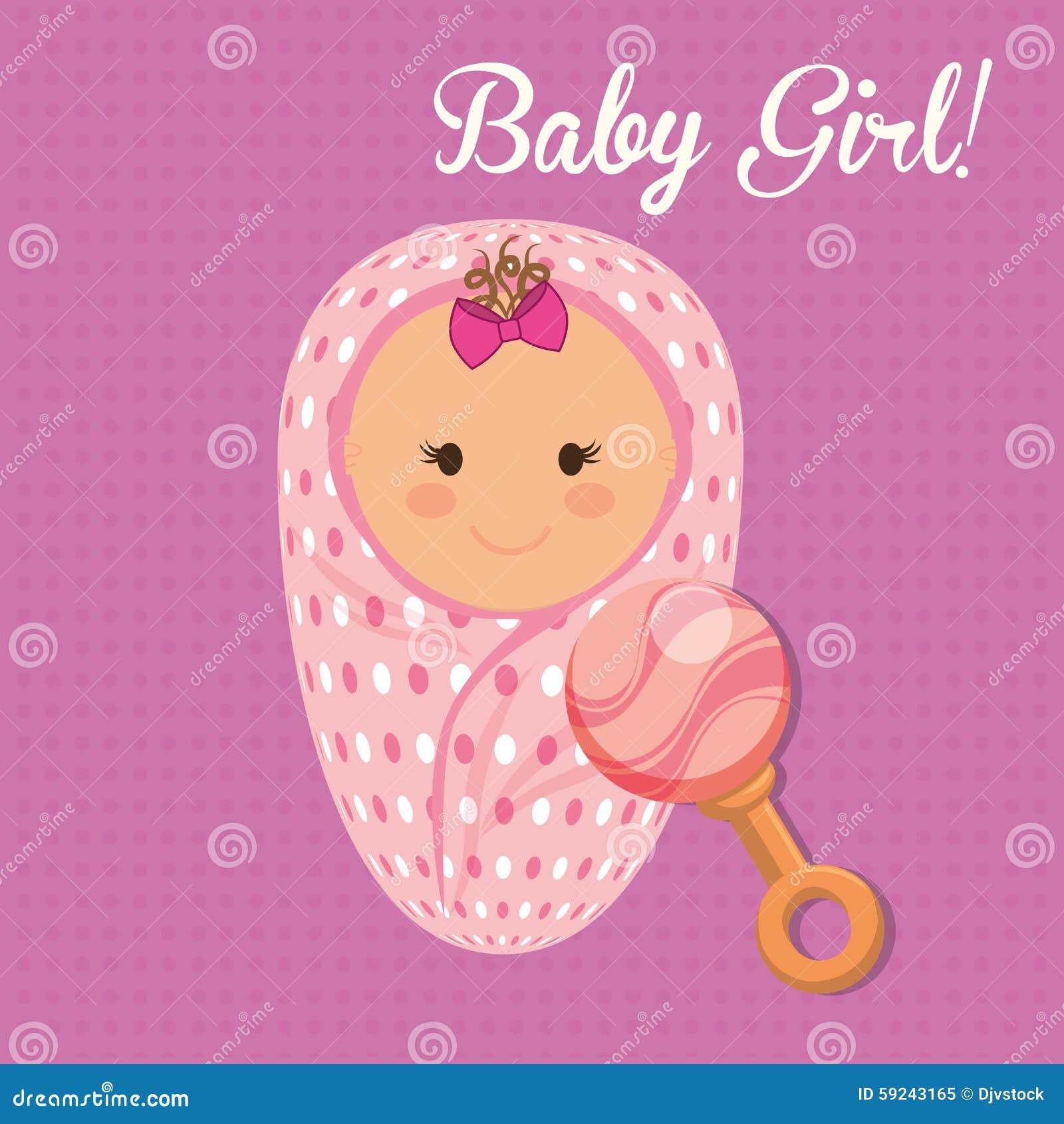 Download Diseño De La Fiesta De Bienvenida Al Bebé Ilustración del Vector - Ilustración de bebé, fondo: 59243165