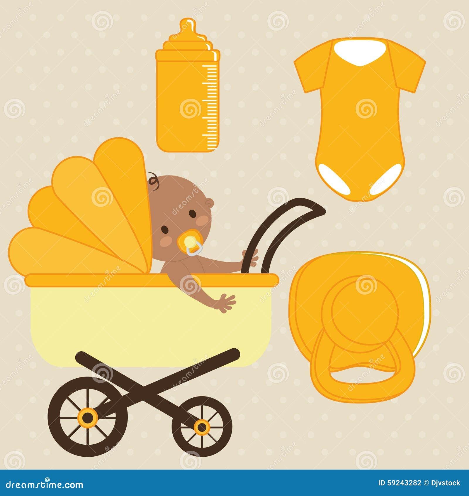 Download Diseño De La Fiesta De Bienvenida Al Bebé Ilustración del Vector - Ilustración de divertido, niñez: 59243282