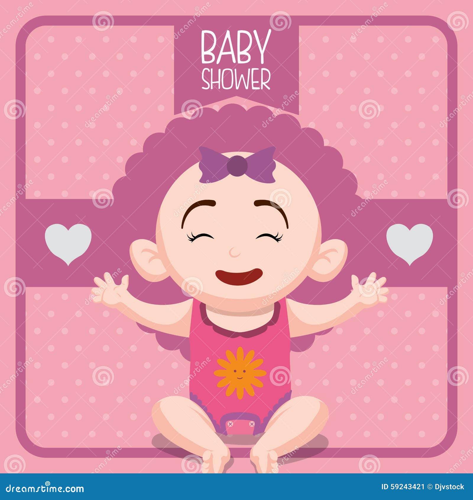 Download Diseño De La Fiesta De Bienvenida Al Bebé Ilustración del Vector - Ilustración de bautismos, decoración: 59243421