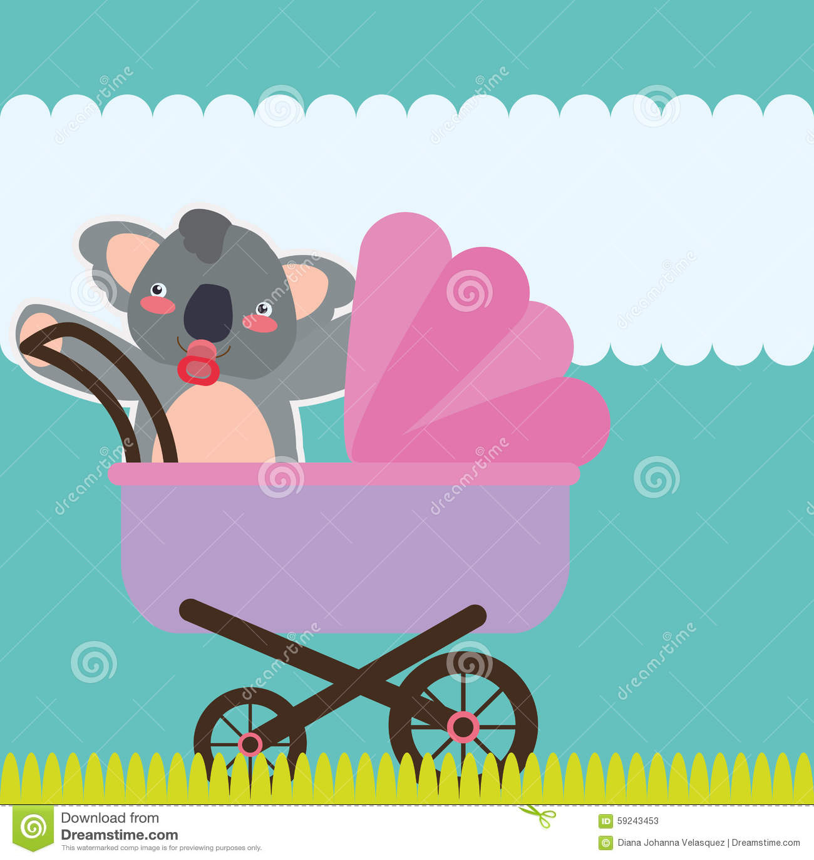Download Diseño De La Fiesta De Bienvenida Al Bebé Ilustración del Vector - Ilustración de llevado, celebración: 59243453