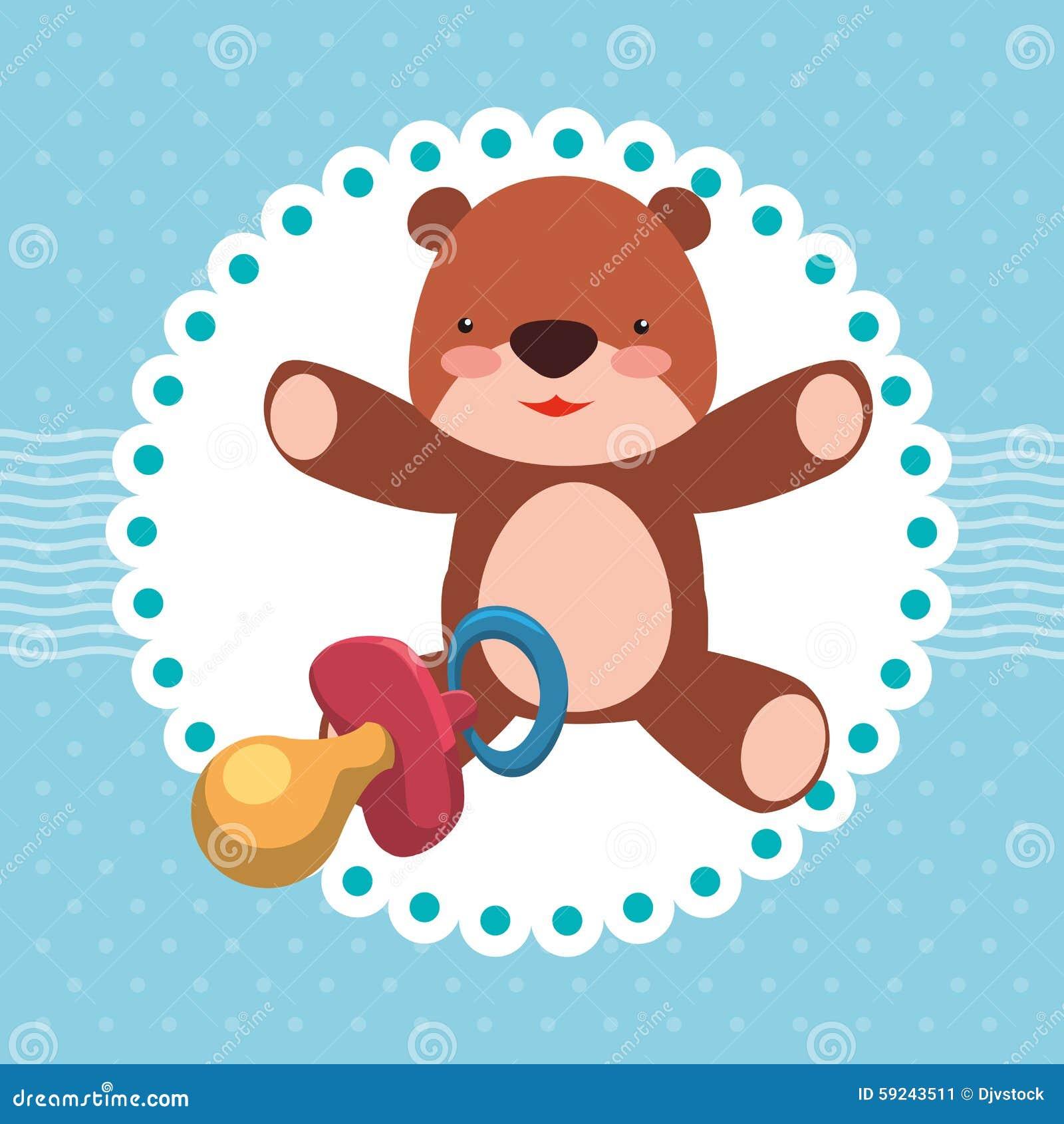 Download Diseño De La Fiesta De Bienvenida Al Bebé Ilustración del Vector - Ilustración de felicitaciones, historieta: 59243511