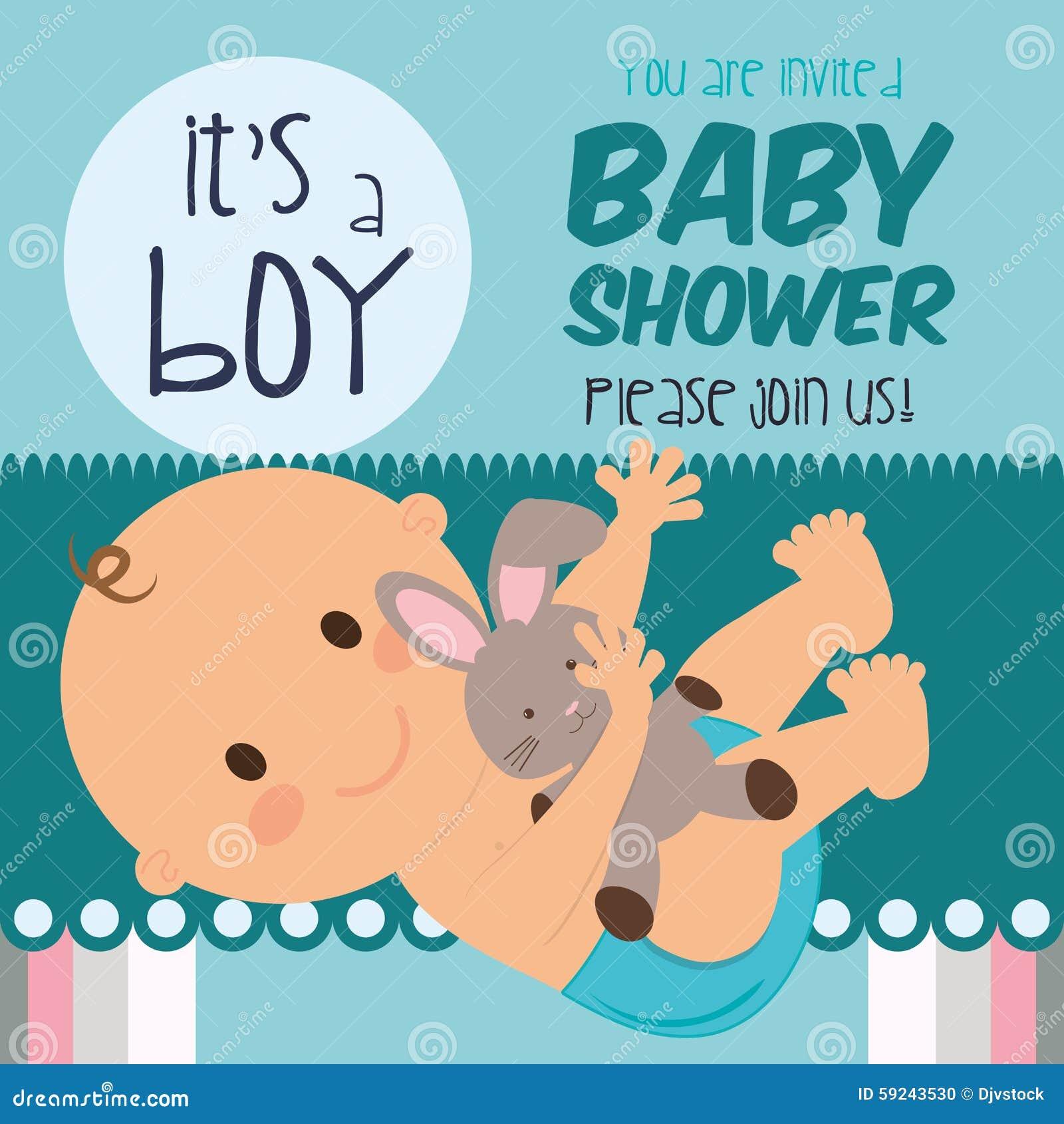 Download Diseño De La Fiesta De Bienvenida Al Bebé Ilustración del Vector - Ilustración de celebración, bautismos: 59243530