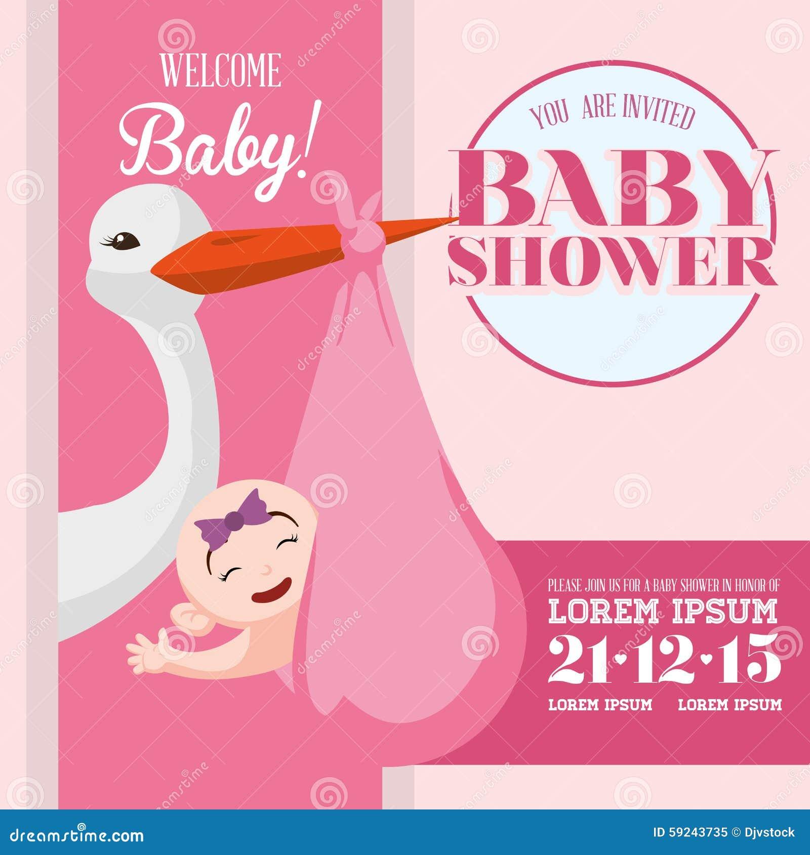 Download Diseño De La Fiesta De Bienvenida Al Bebé Ilustración del Vector - Ilustración de celebre, fondo: 59243735