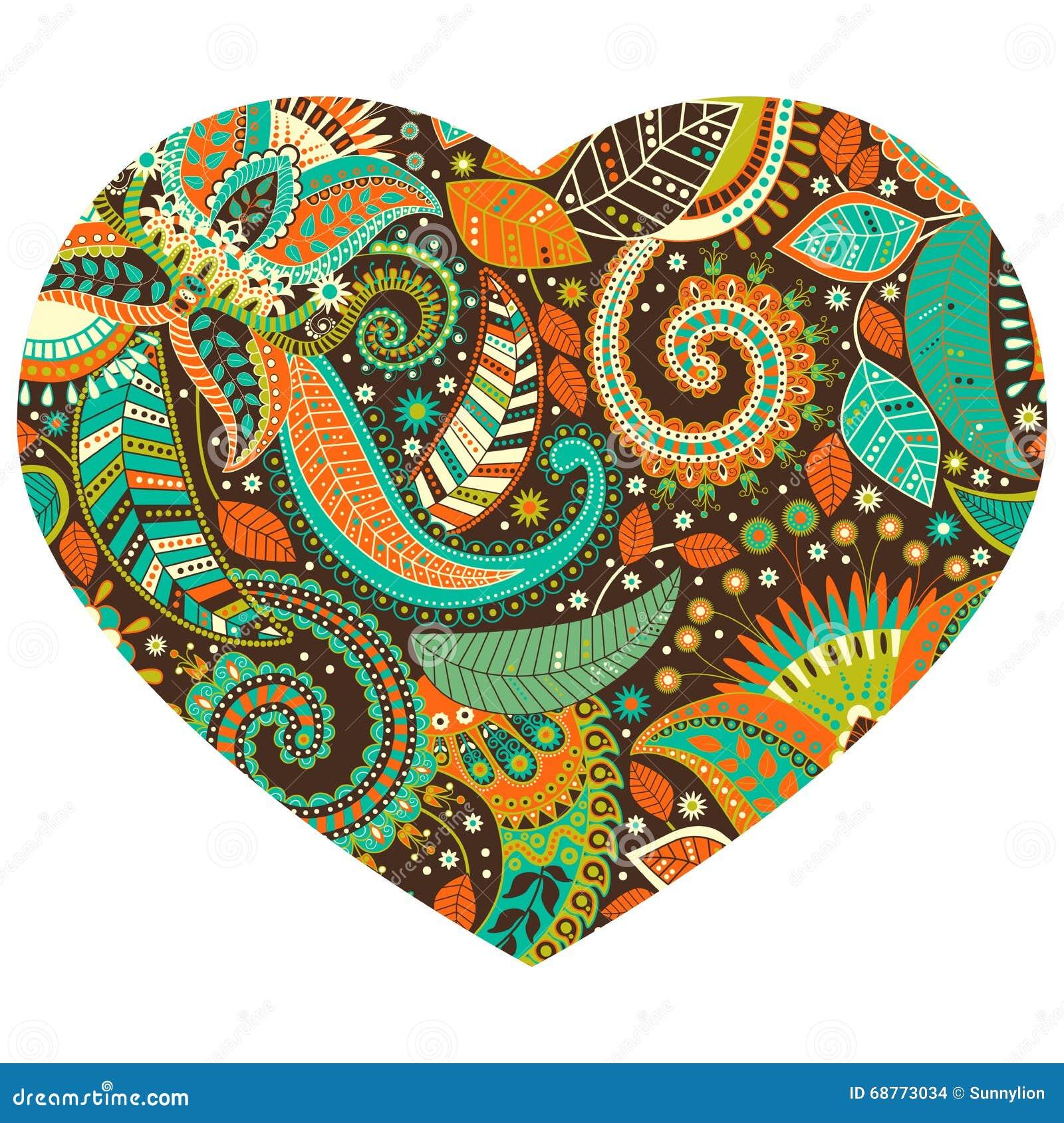 Diseño de la forma del corazón del vector