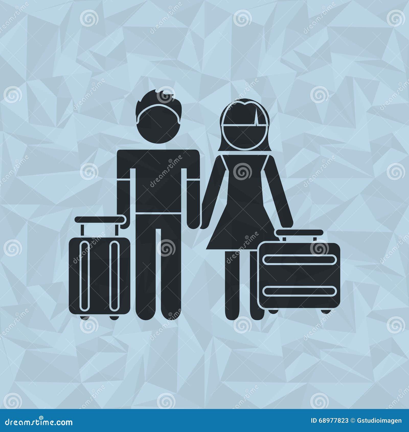 Diseño de la gente y del viaje