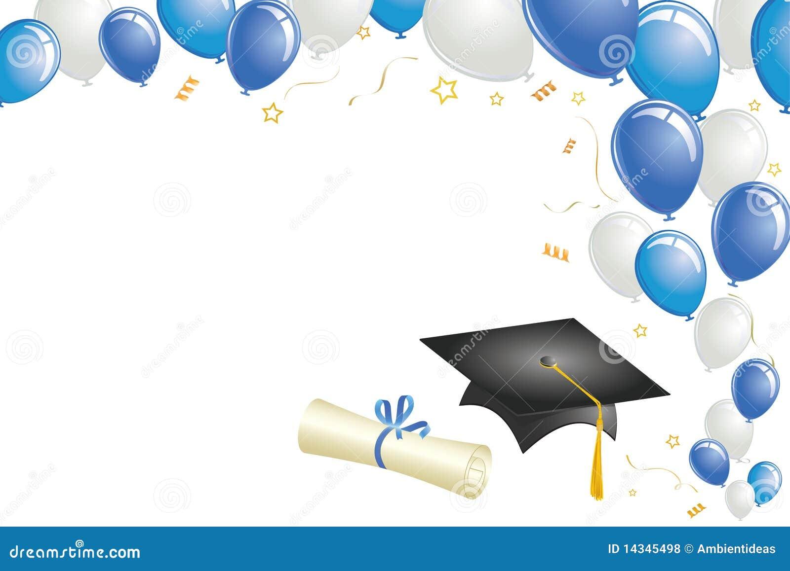 Diseño De La Graduación Con Oro Y Globos Amarillos Ilustración del ...