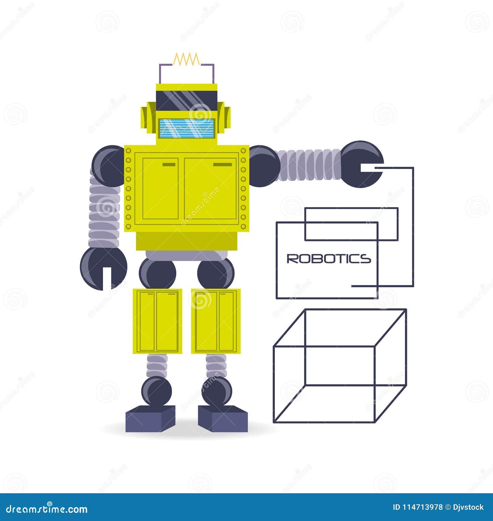 Diseño de la historieta del robot