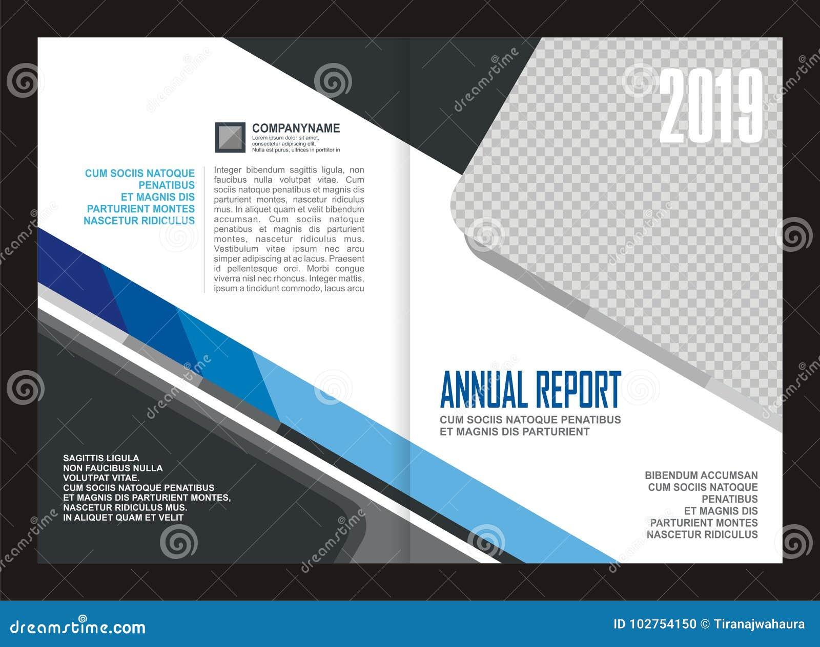 Diseño de la plantilla de la cubierta del informe anual