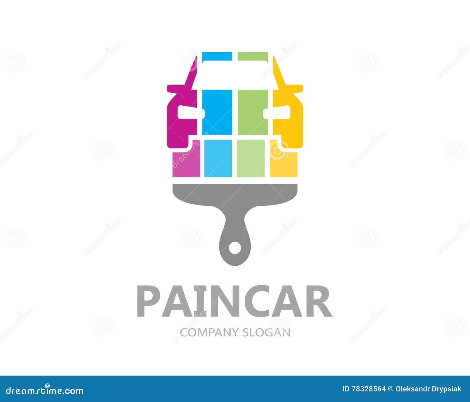 Diseño De La Plantilla Del Logotipo De La Pintura Del Coche Del ...