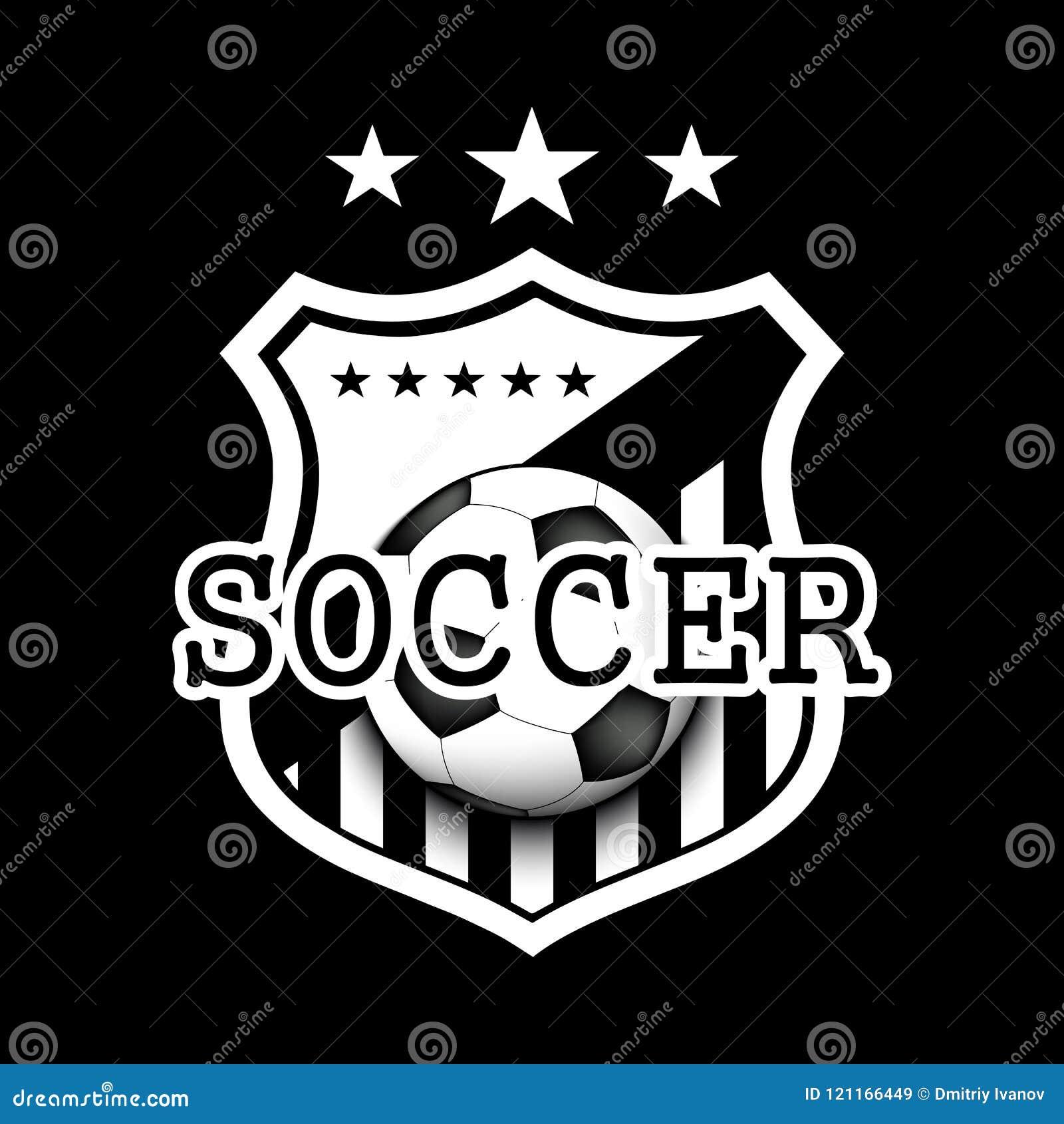 4ab71aacf96e3 Diseño De La Plantilla Del Logotipo Del Fútbol Ilustración del ...