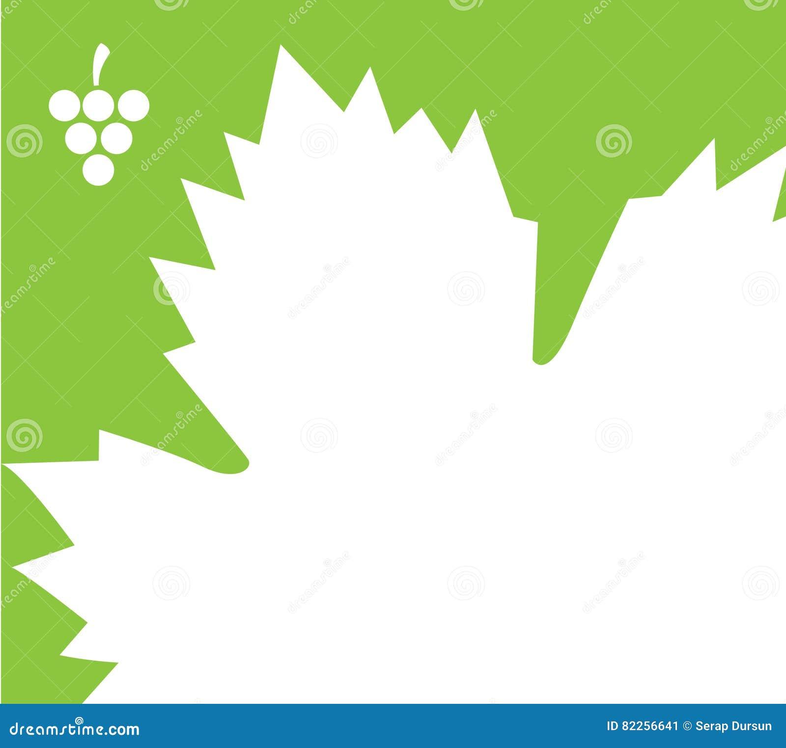 Diseño De La Plantilla Para Las Uvas Y Las Hojas Ilustración del ...