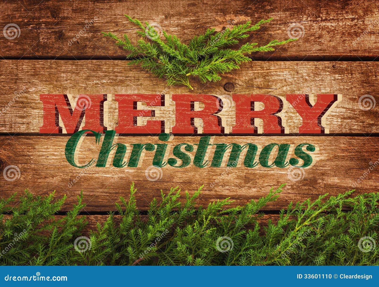 Diseño de la postal o del cartel del vintage de la Feliz Navidad