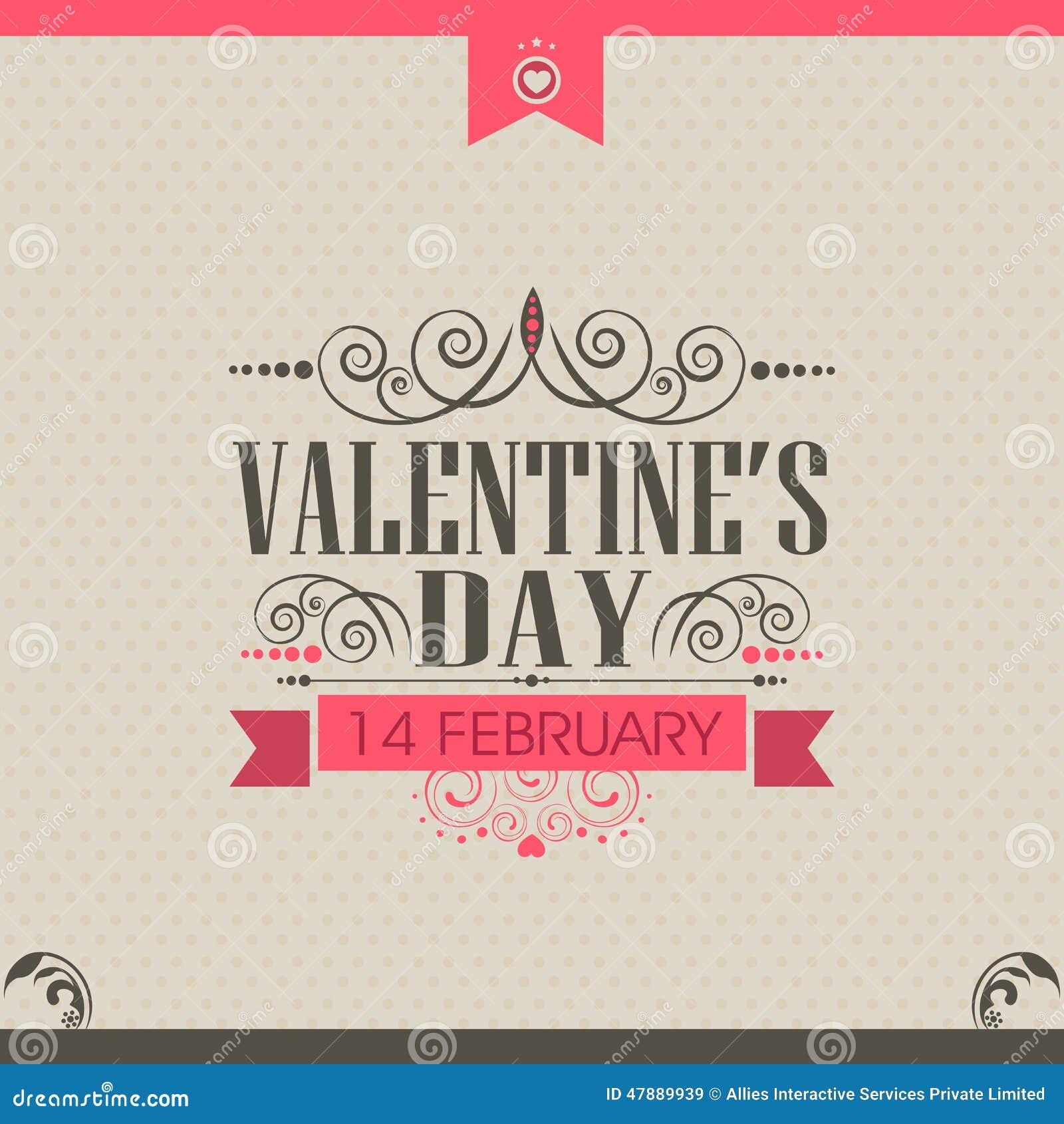 Diseño de la tarjeta de felicitación de la celebración del día de tarjeta del día de San Valentín