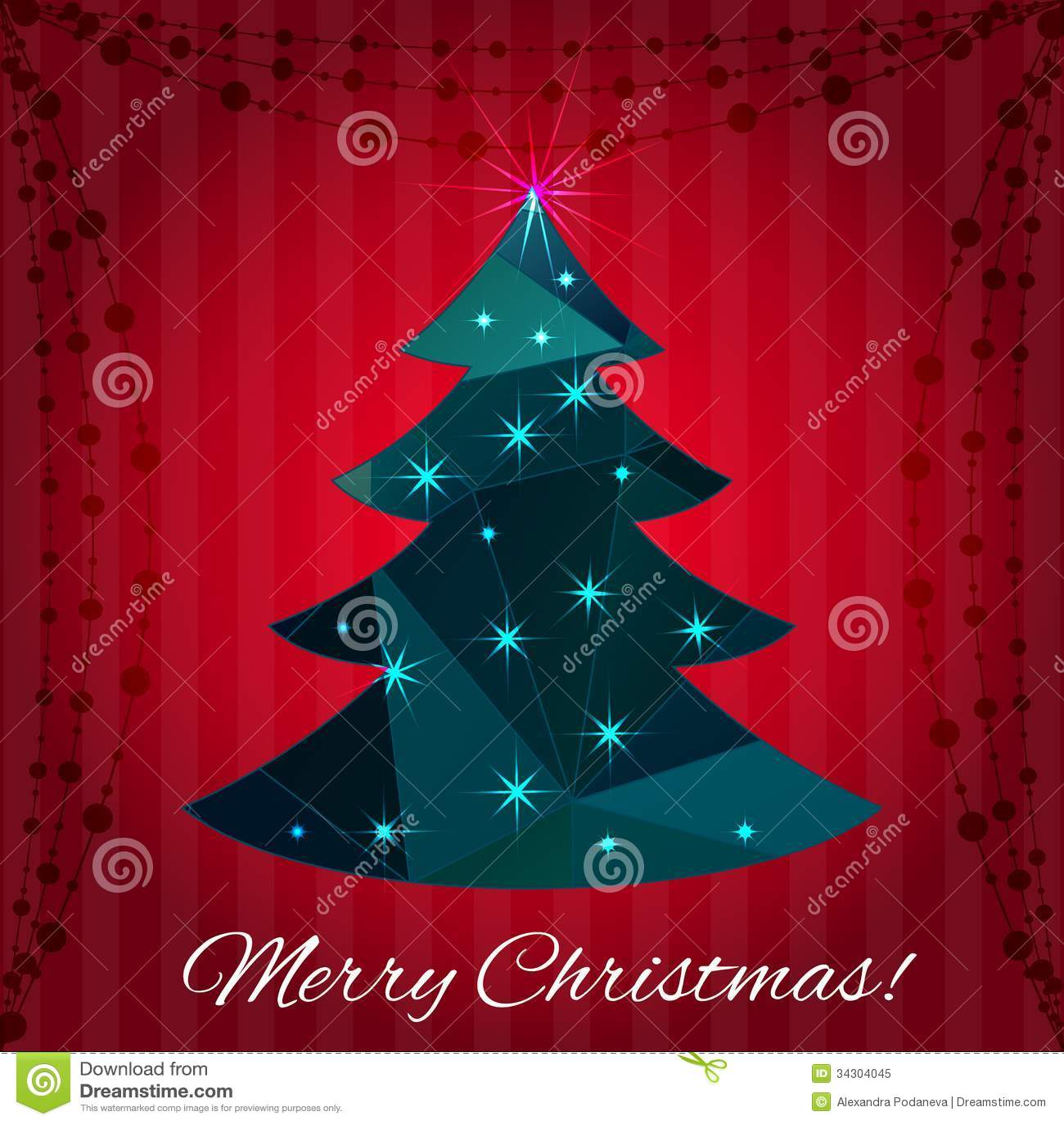 Dise o de la tarjeta de felicitaci n del rbol de navidad - Arbol de navidad diseno ...
