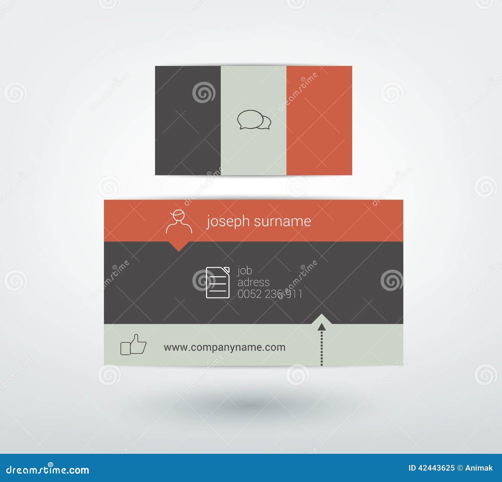 Diseño de la tarjeta de visita