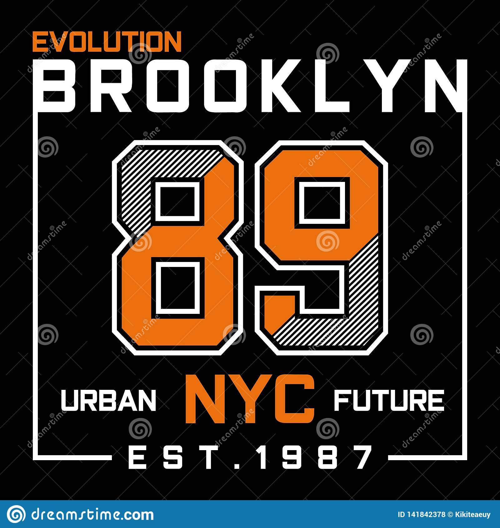Diseño de la tipografía de Brooklyn New York City de la evolución