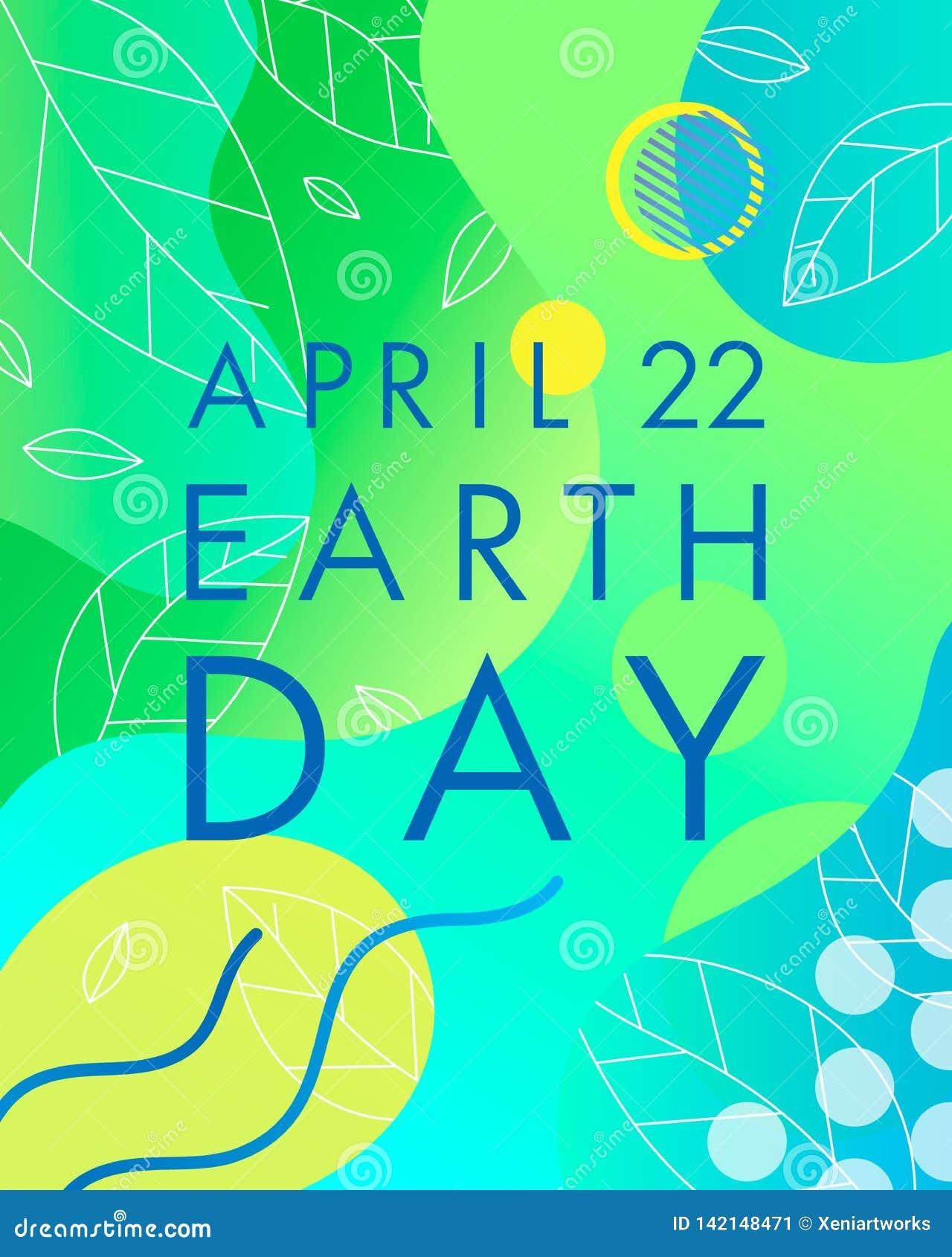 Diseño de la tipografía del Día de la Tierra