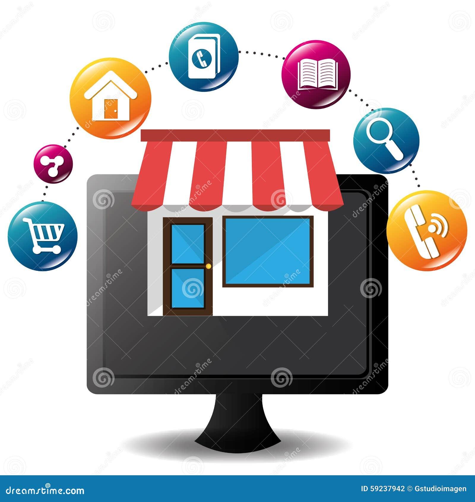Download Diseño De Las Aplicaciones Móviles Del Comercio Electrónico Y Del Mercado Ilustración del Vector - Ilustración de mercado, teléfono: 59237942