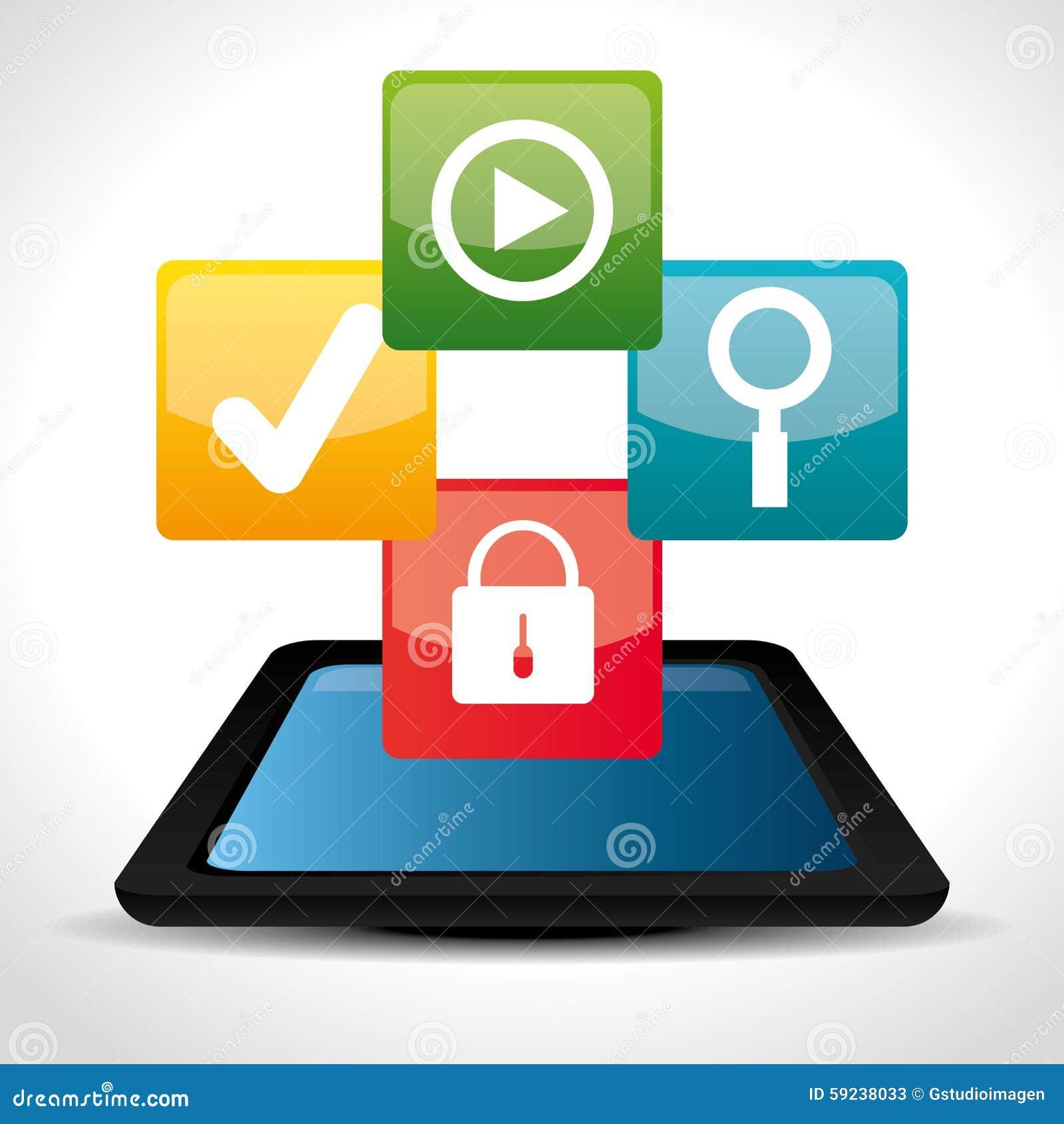 Download Diseño De Las Aplicaciones Móviles Del Comercio Electrónico Y Del Mercado Ilustración del Vector - Ilustración de comunicación, padlock: 59238033