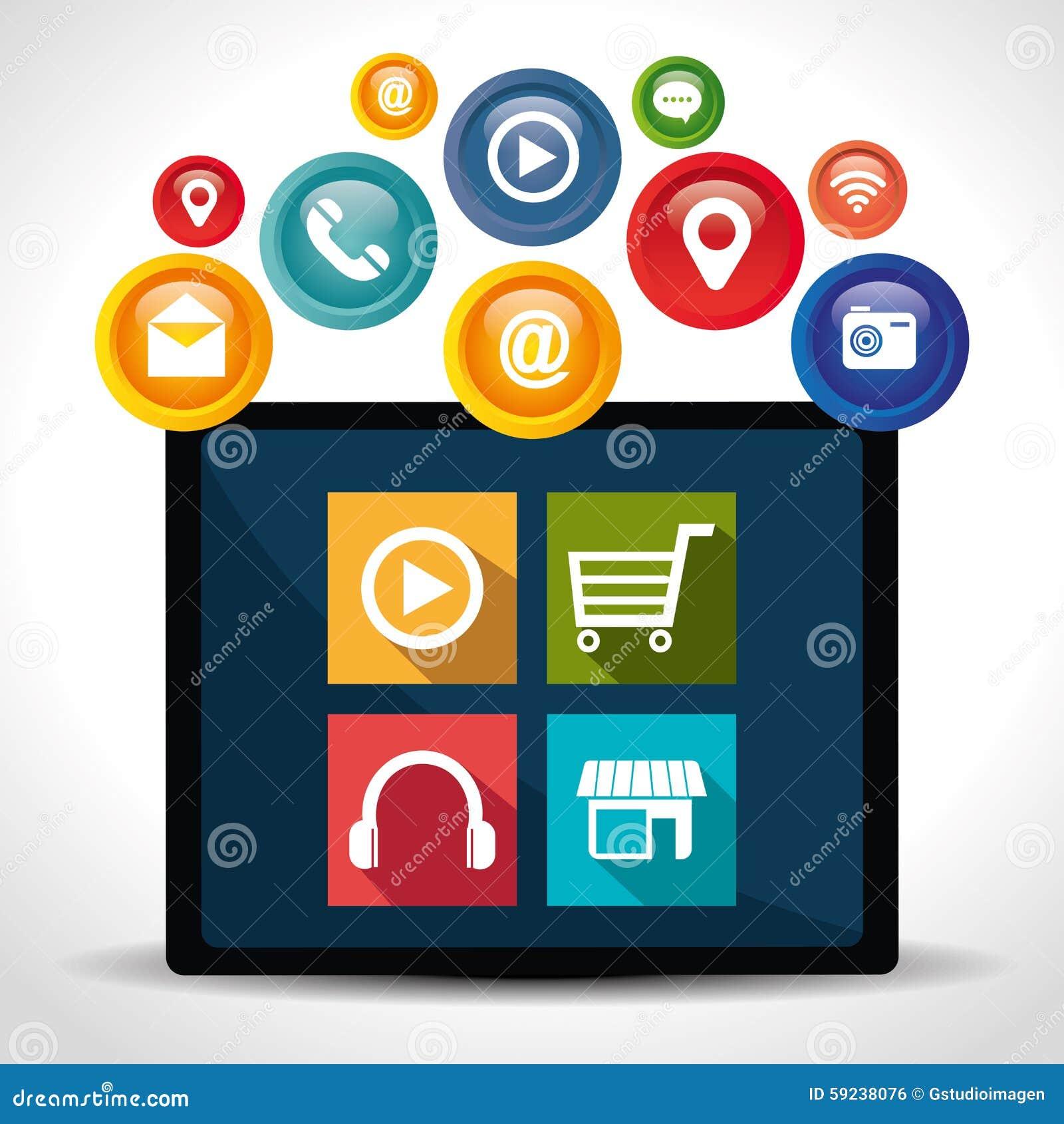 Download Diseño De Las Aplicaciones Móviles Del Comercio Electrónico Y Del Mercado Ilustración del Vector - Ilustración de carro, conecte: 59238076