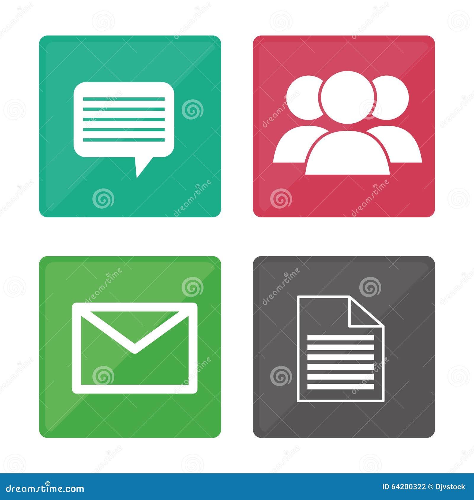 Diseño de los iconos de la comunicación global