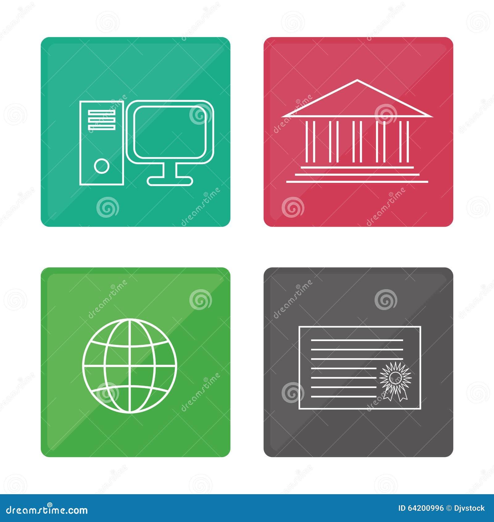 Diseño de los iconos de la educación