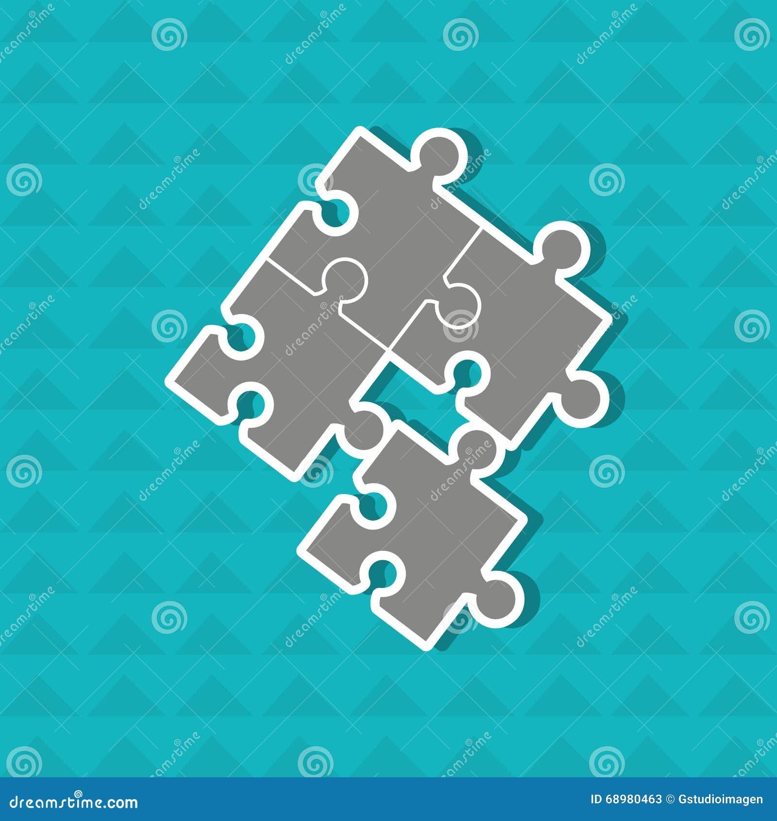 Diseño de los pedazos del rompecabezas