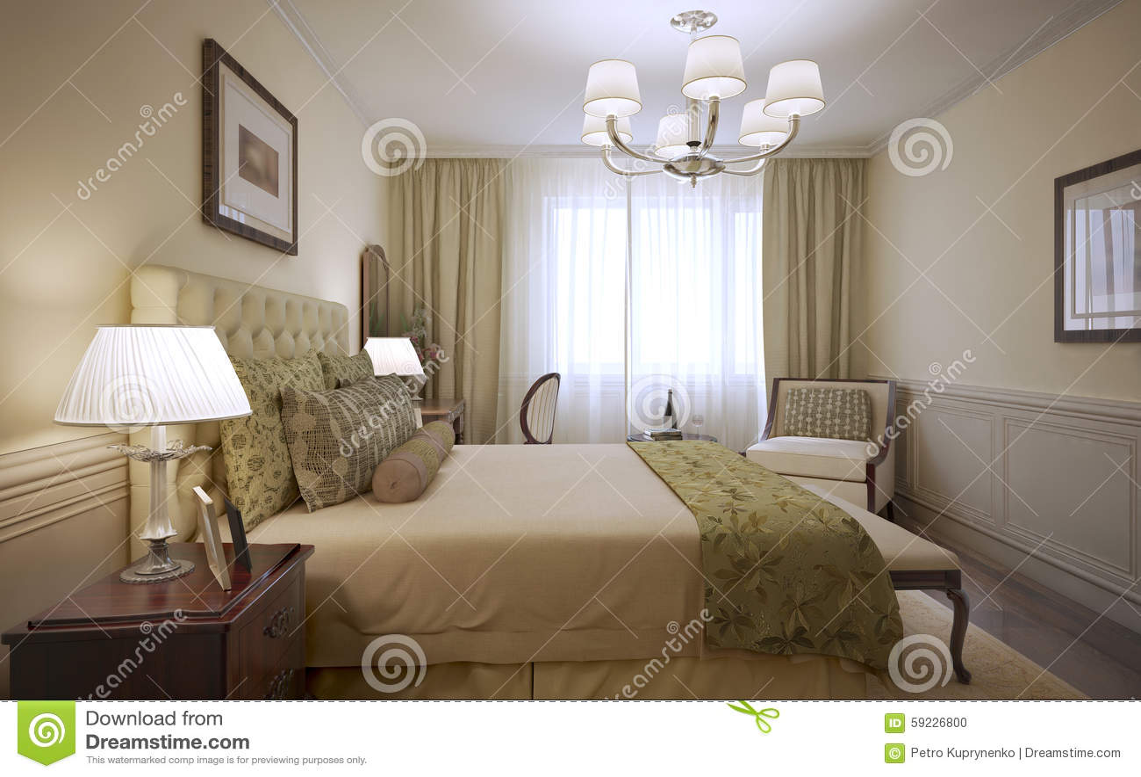 Diseño de lujo de la habitación