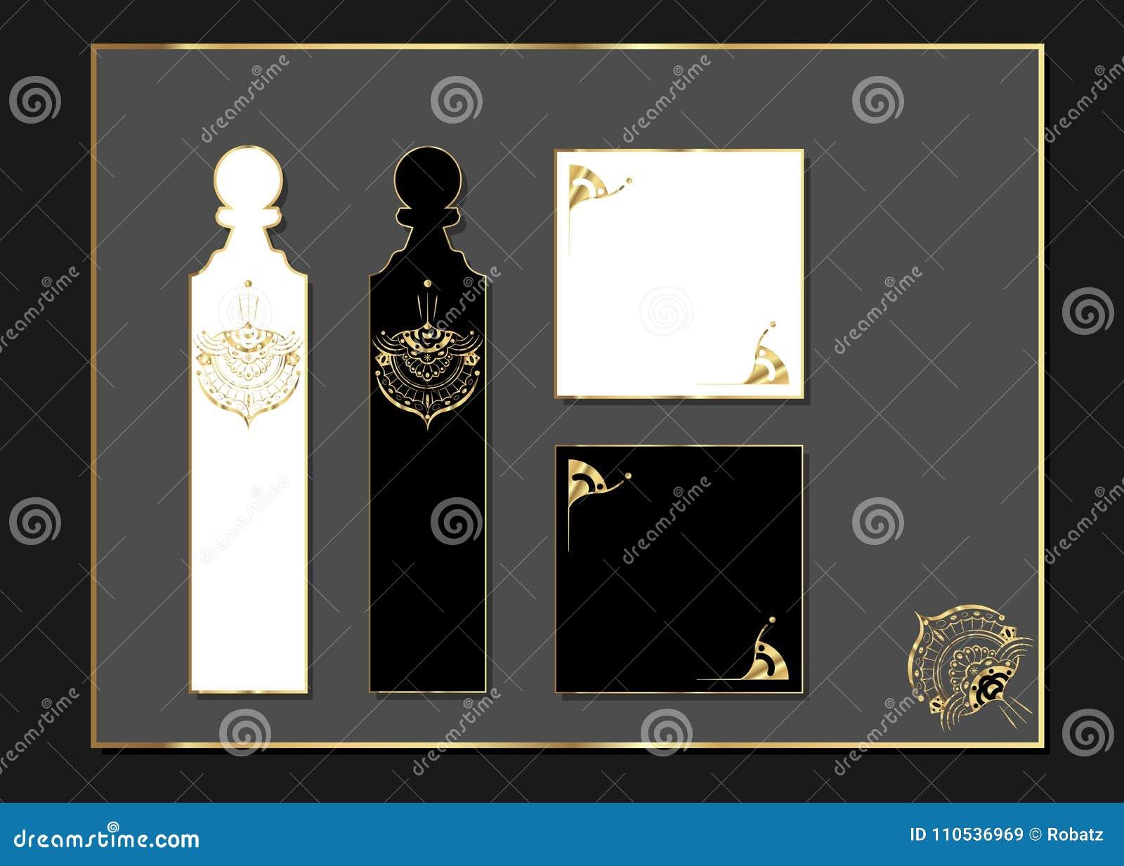 Diseño De Lujo Del Corte Del Laser Con El Oro Acentuado Sistema De ...