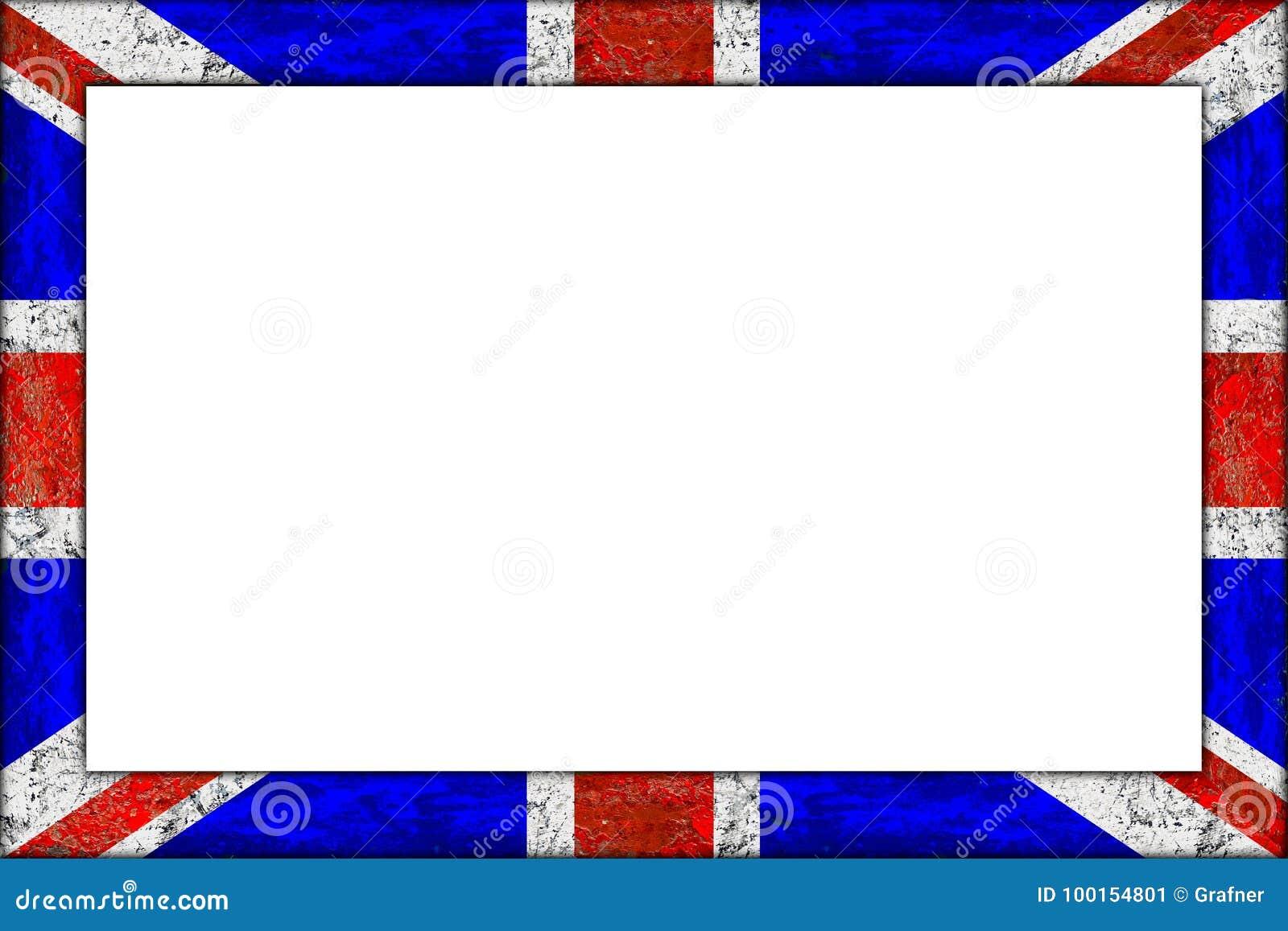 Diseño De Madera Vacío De La Bandera Del Union Jack Del Marco Imagen ...