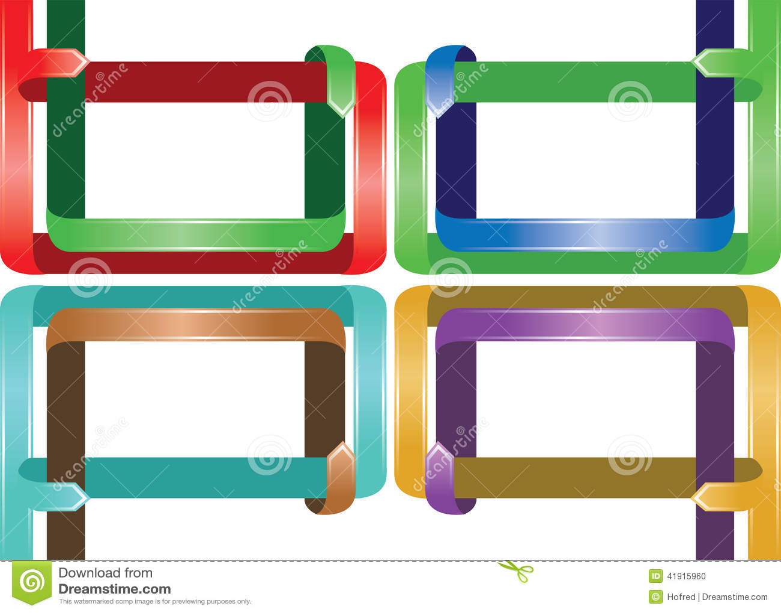 Diseño de página colorido de la cinta
