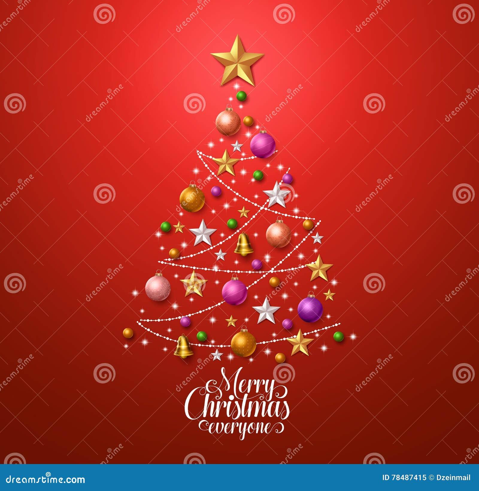 Dise o del rbol de navidad para la tarjeta de - Arboles de navidad de diseno ...
