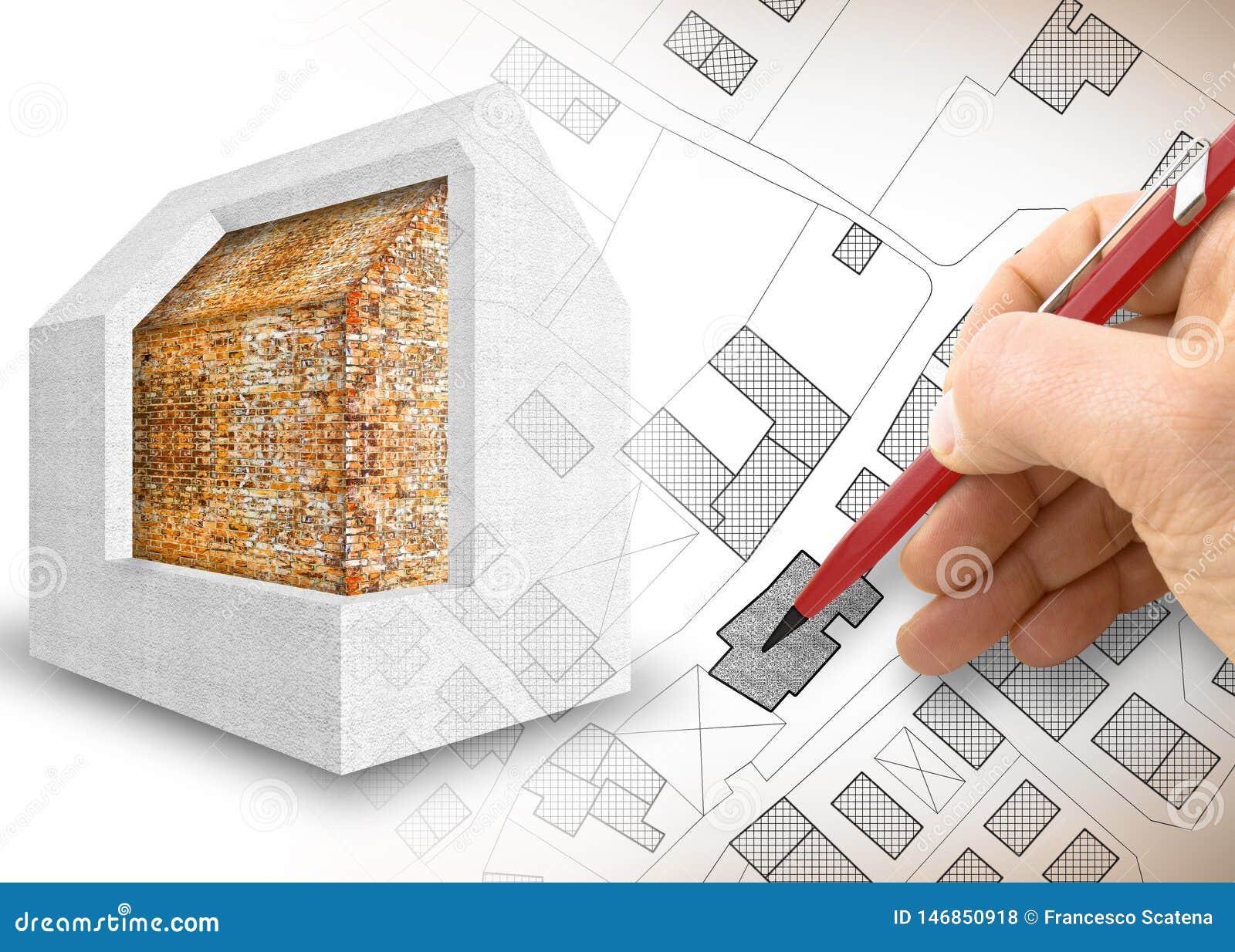 Diseño del aislamiento térmico de edificios viejos para mejorar rendimiento energético y para reducir pérdidas termales - 3D rind