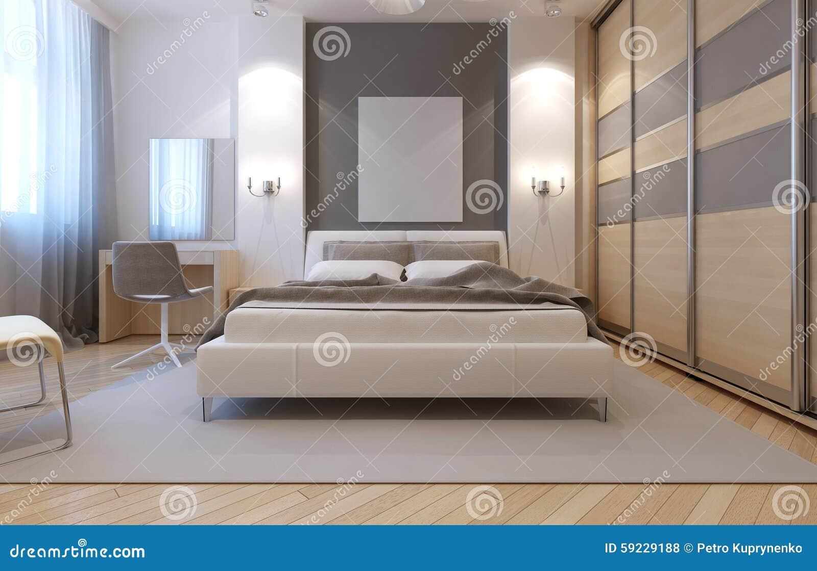 Diseño del avangard del dormitorio principal