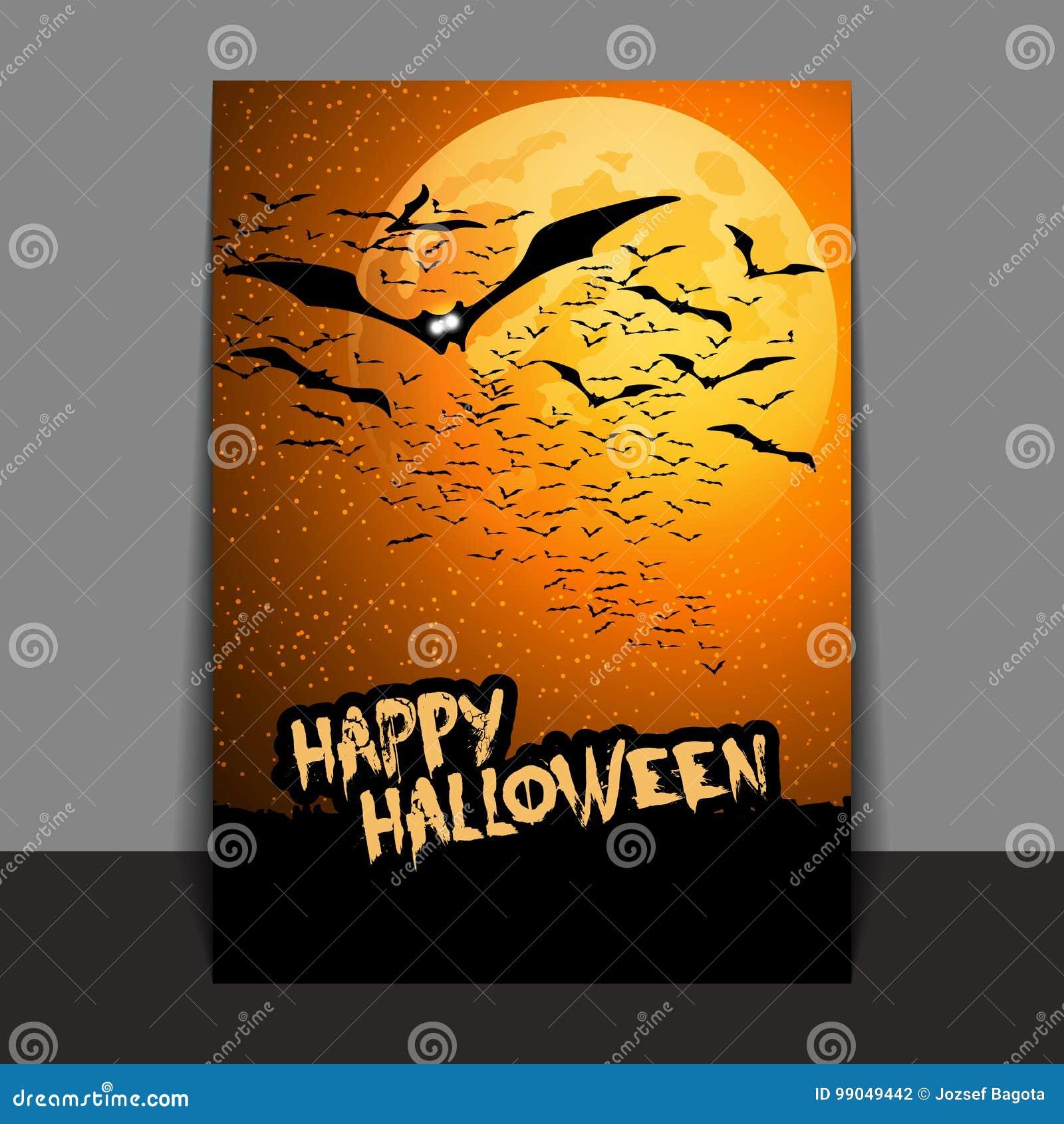 Diseño Del Aviador O De La Cubierta De Halloween Con Las Porciones ...