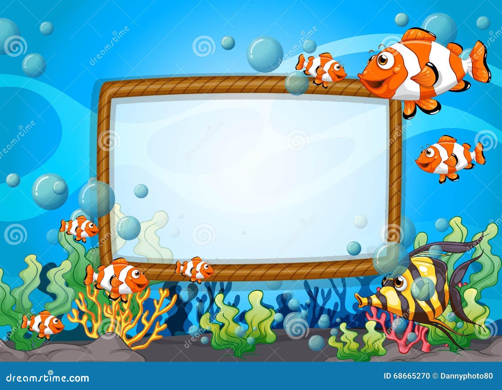 Diseño del capítulo con los pescados subacuáticos