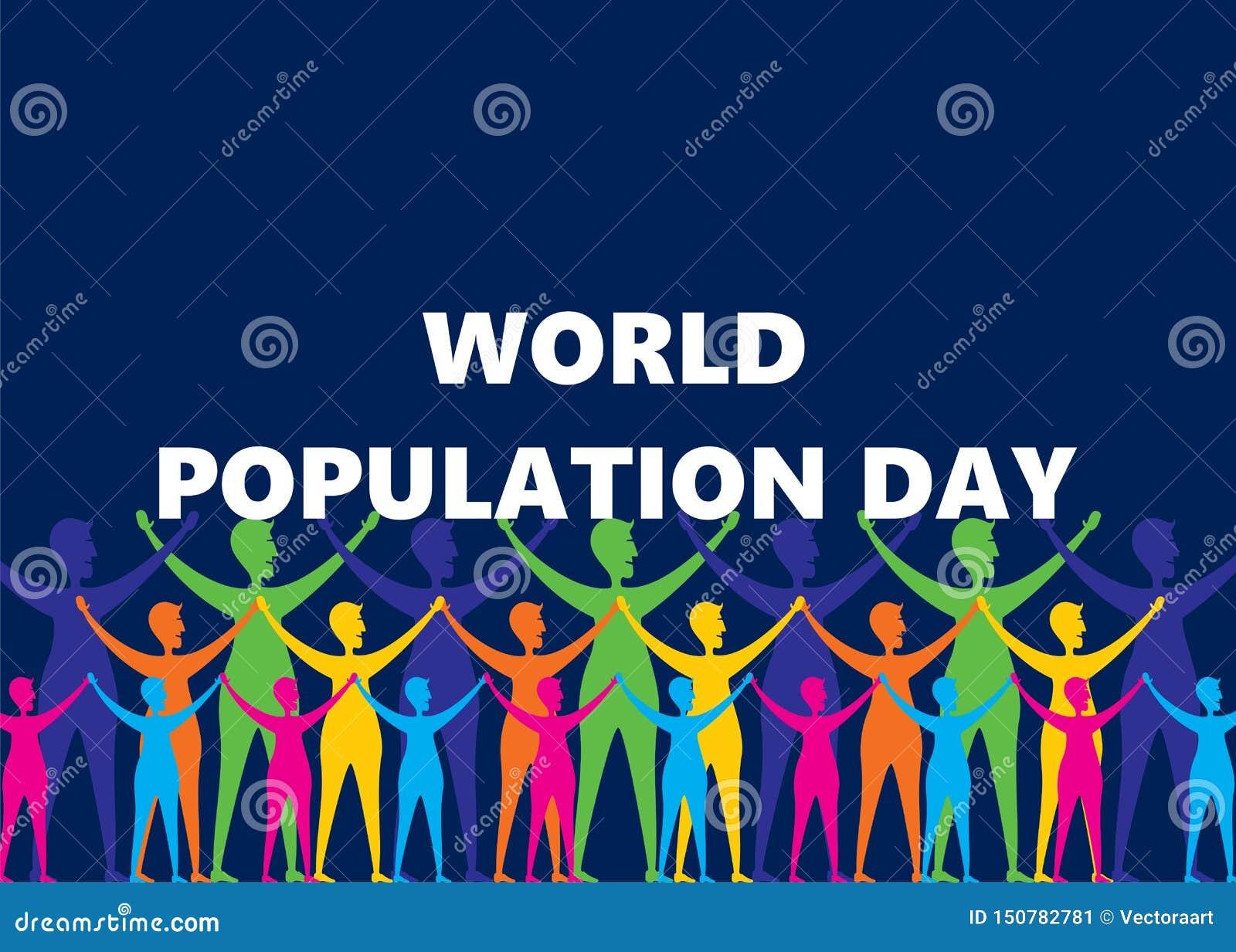 Diseño del cartel del día de la población mundial