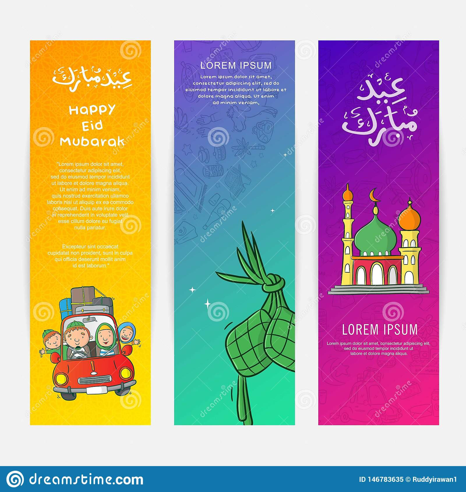 Diseño del cartel de Eid Mubarak