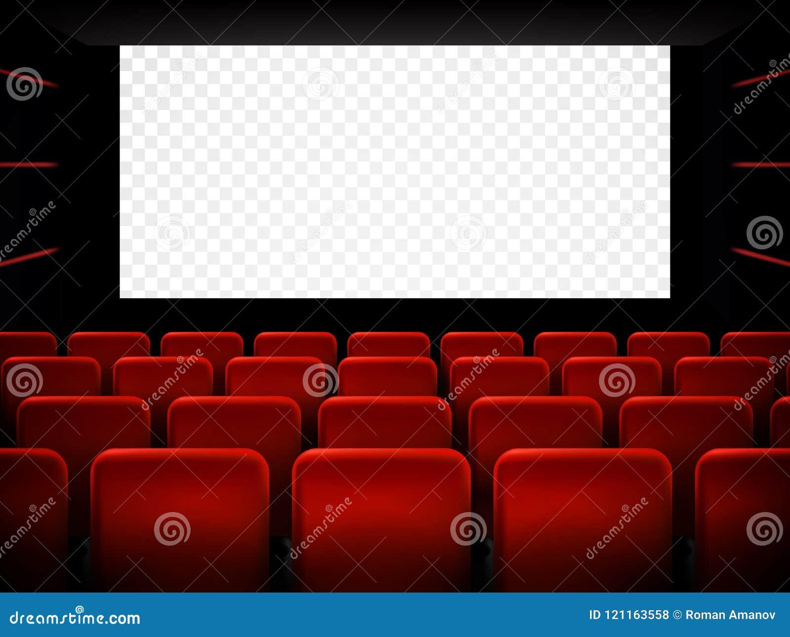 Diseño del cartel de la premier del cine de la película con la pantalla blanca Vector