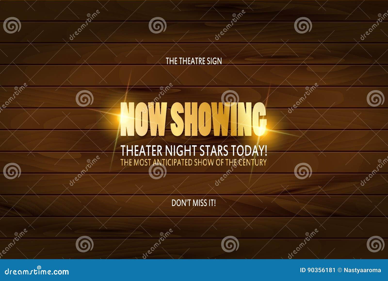 Diseño del cartel de la premier del teatro