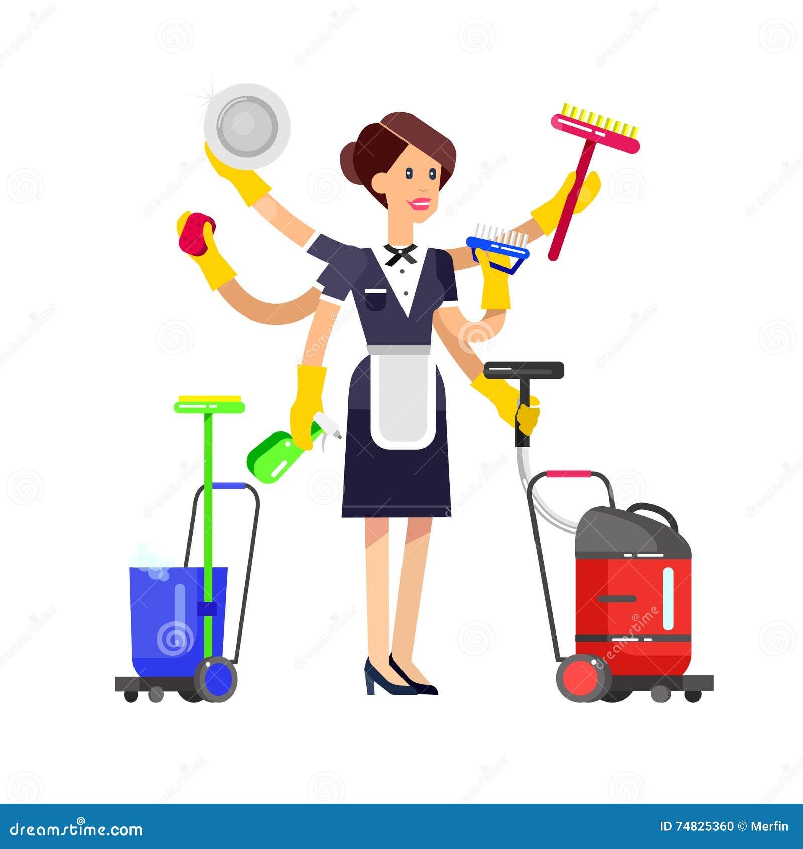 Dise o del cartel para el servicio de limpieza ilustraci n del vector ilustraci n de - Servicio de limpieza para casas ...