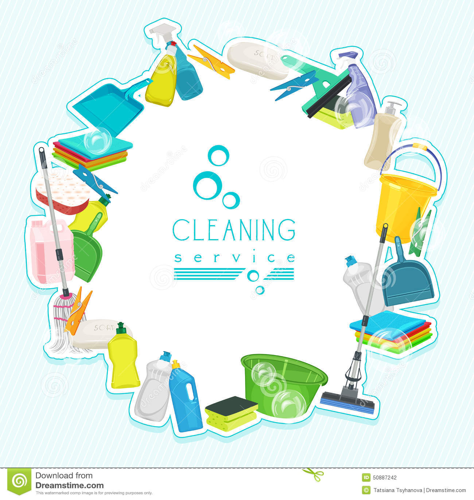 Dise o del cartel para el servicio y las fuentes de for Articulos para limpieza del hogar