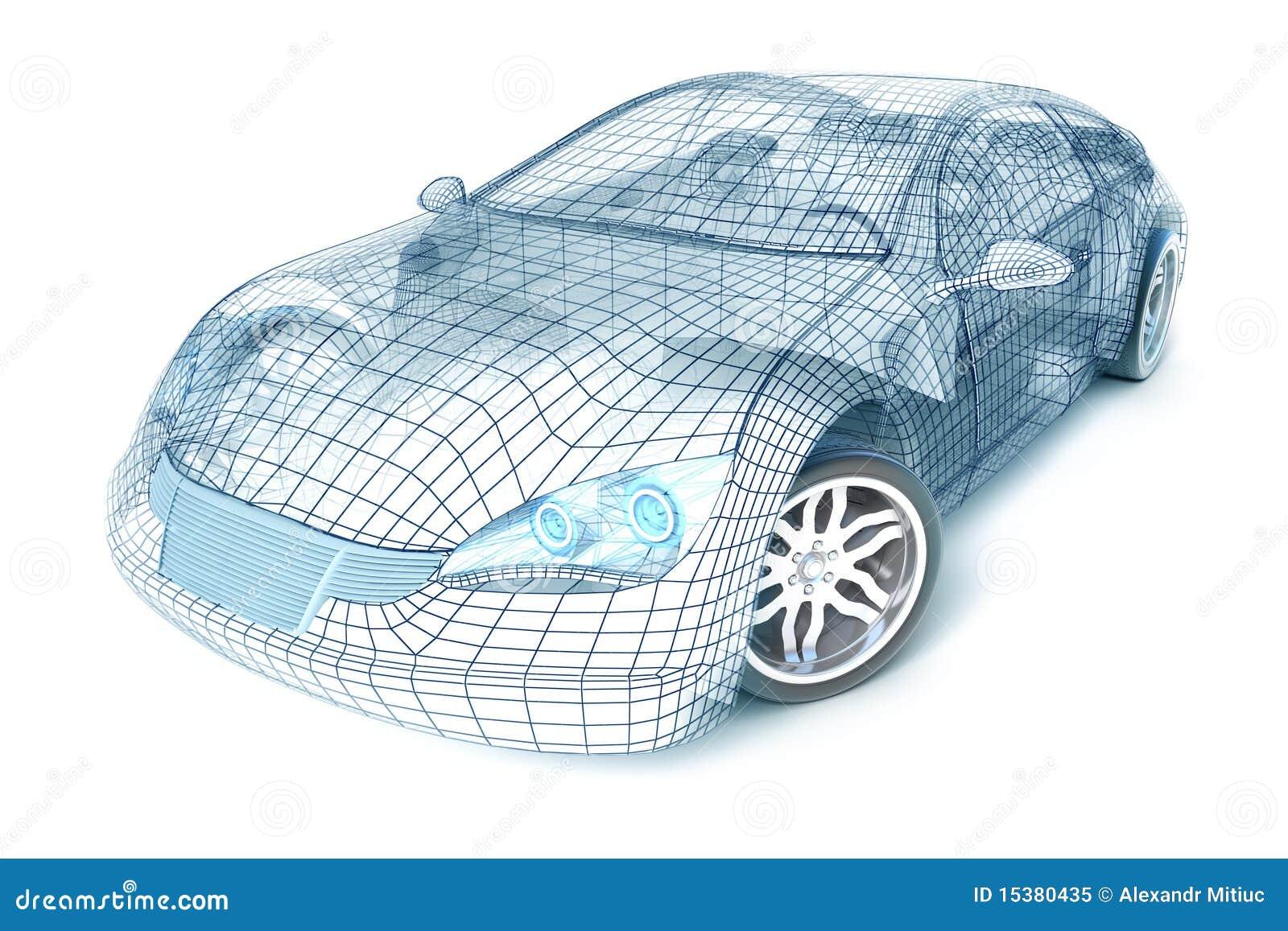Diseño del coche, modelo del alambre. Mis los propios diseño.